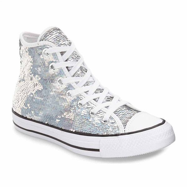 7096e55a3925f Converse Chuck Taylor All Star Sequin High Top Womens Sneakers (1.165 ARS)  ❤ liked on Polyvore featuring shoes