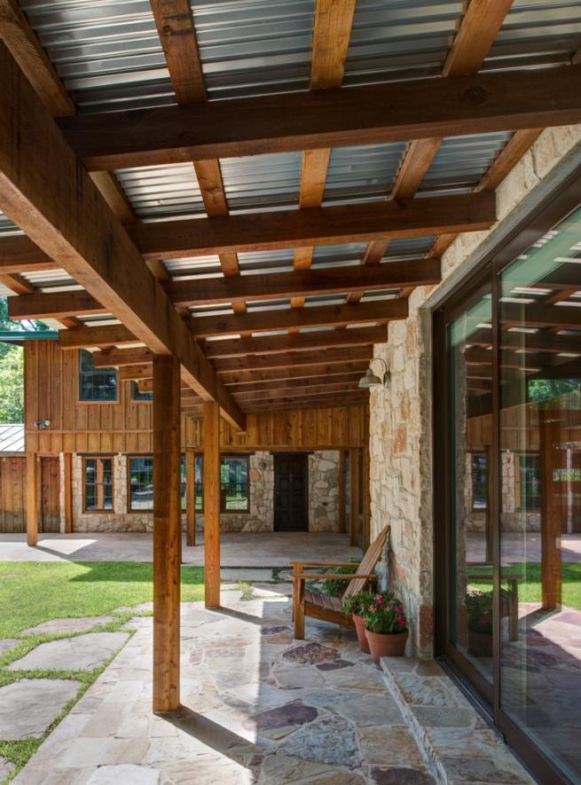 Galvanized Roof Covering Pergola Patio Pergola With Roof