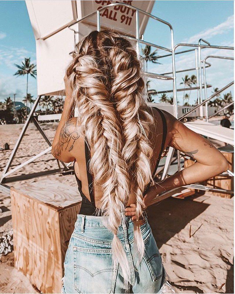 hair #hairstyle #braids #blonde #beach #summer #ocean
