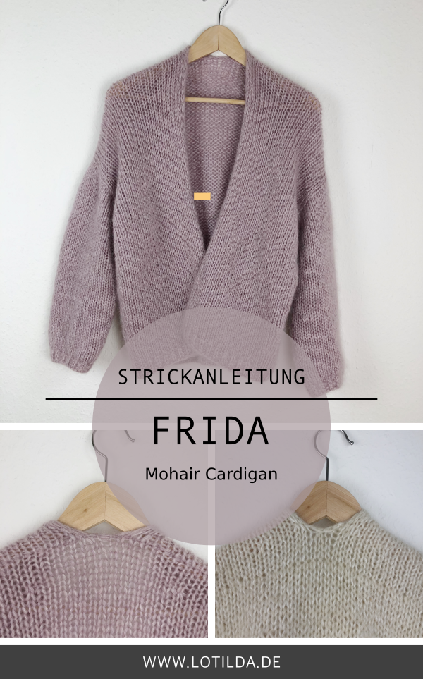 Photo of F R I D A – Instructions Knit mohair cardigan from above • LOTILDA