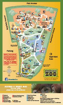 Honolulu Zoo Map 14person under 3 free Vacation Plans