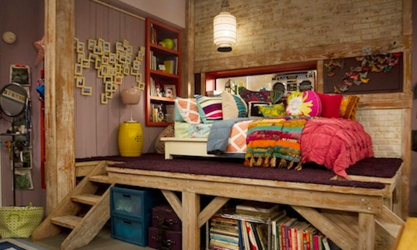 Teddy Duncan's platform bed from Good Luck Charlie| I am getting my neighbor to build this for me but it is going to be bigger because I have a big room. so excited! :) <3
