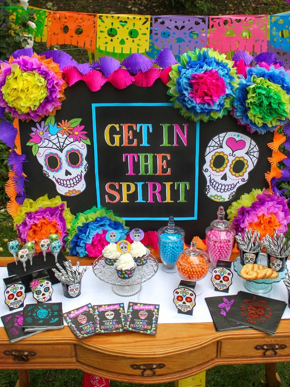 Day Of The Dead Tween Halloween Party Printable Pack Fun365 Fiesta De Los Muertos Fiesta Dia De Muertos Decoración De Fiesta De Halloween
