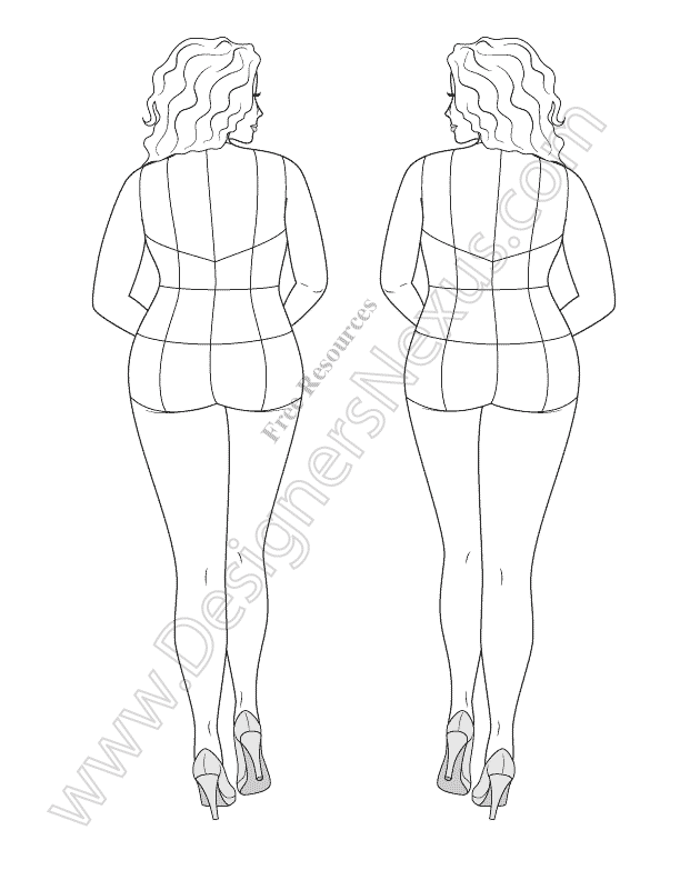 Free download fashion figure template of plus size croqui