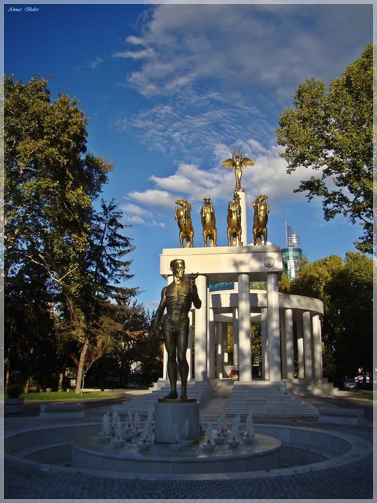 Fallen Heroes of Macedonia Monument. The Prometheus and