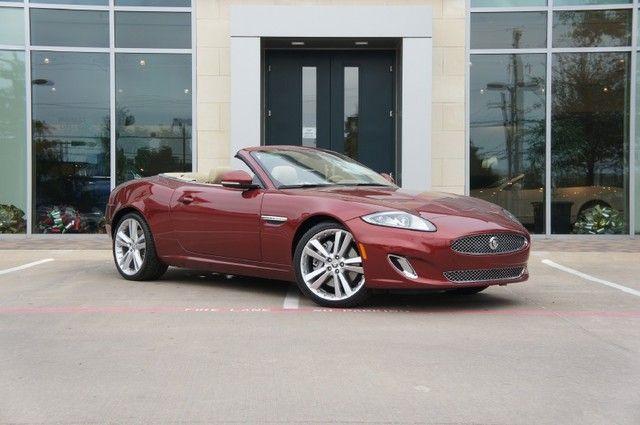 2012 Jaguar Xk Convertible In Claret At Park Place Jaguar Dallas