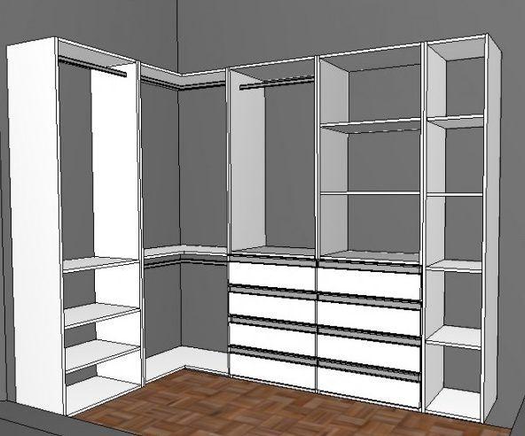 Projetos de closet 40 projetos com medidas e tamanhos