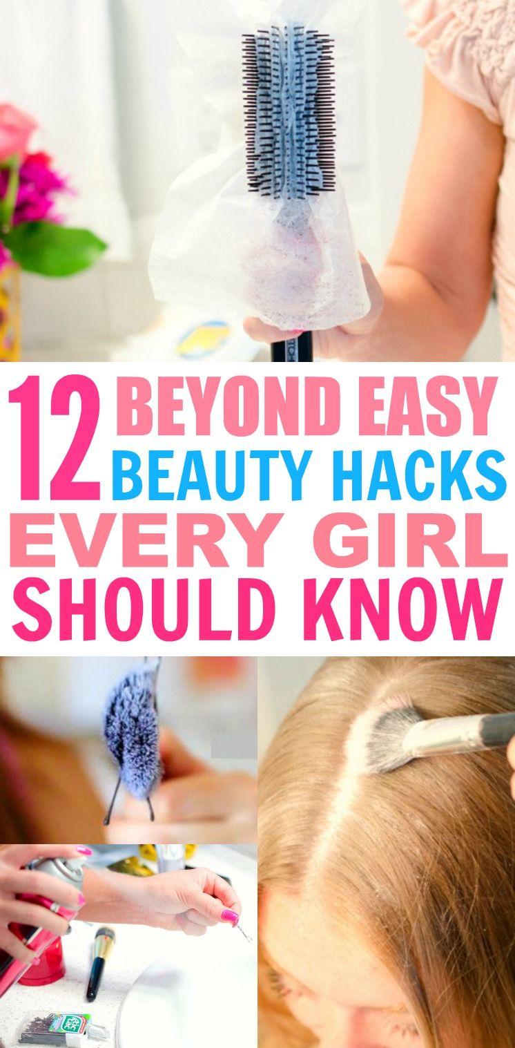 12 Beyond Easy Beauty Hacks, die jedes Mädchen machen kann