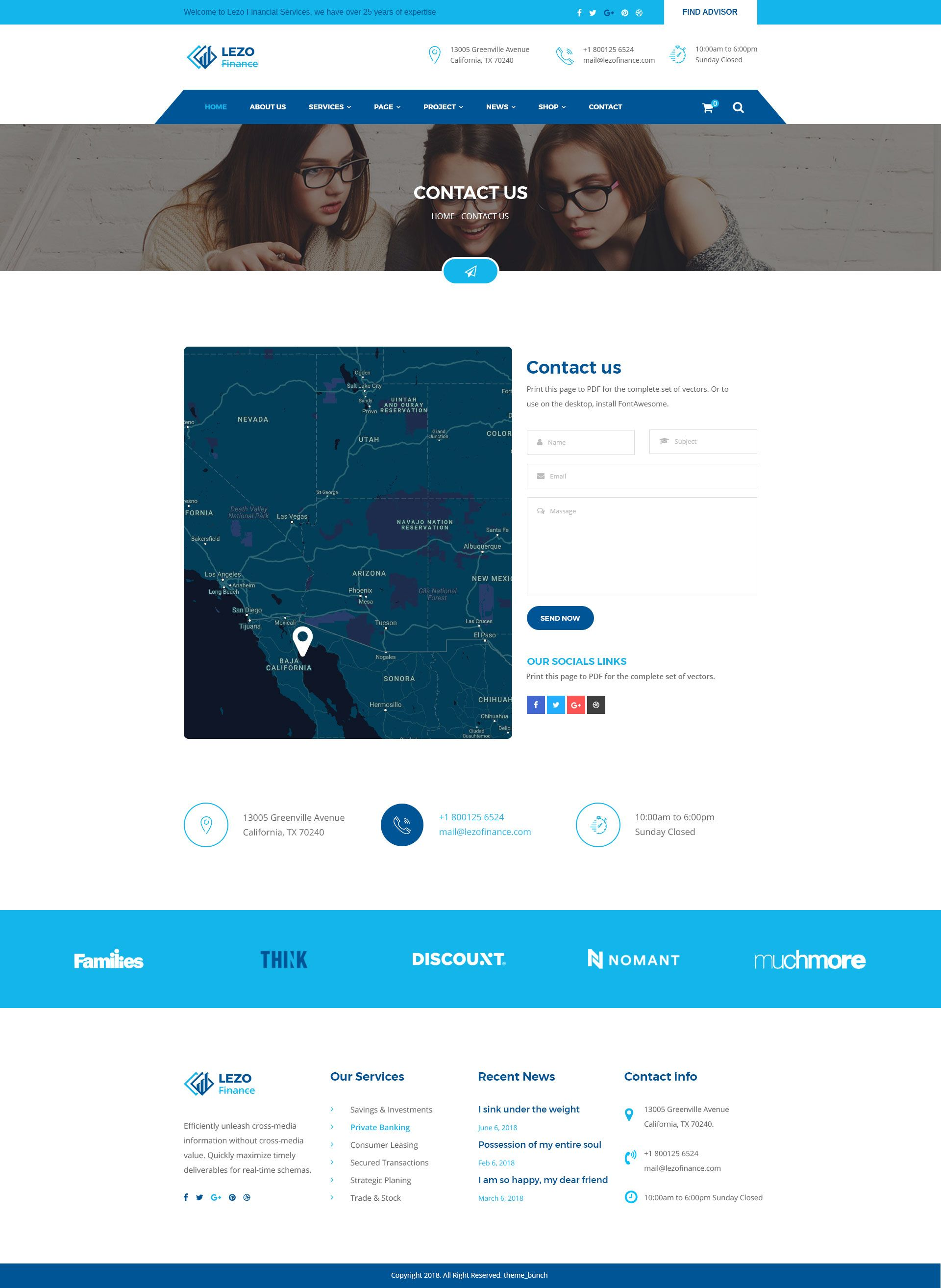 Lezo Business Finance Consulting Psd Template Finance Psd Templates Finance Tracker