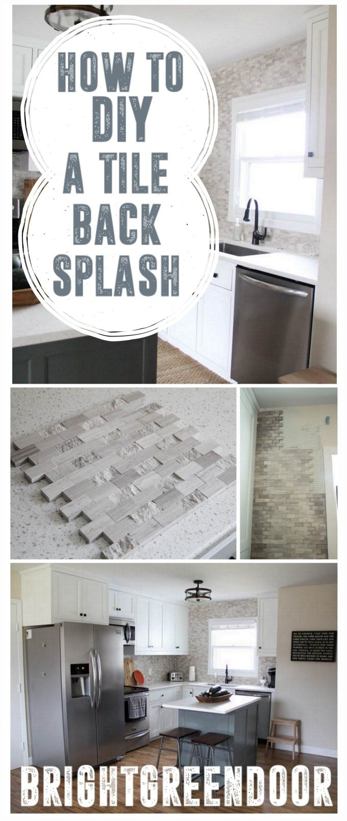 Install a Mosaic Tile Backsplash | Grey tiles, Mosaics and Modern
