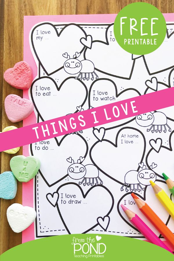 Things I love coloring page -   18 holiday crafts kindergarten