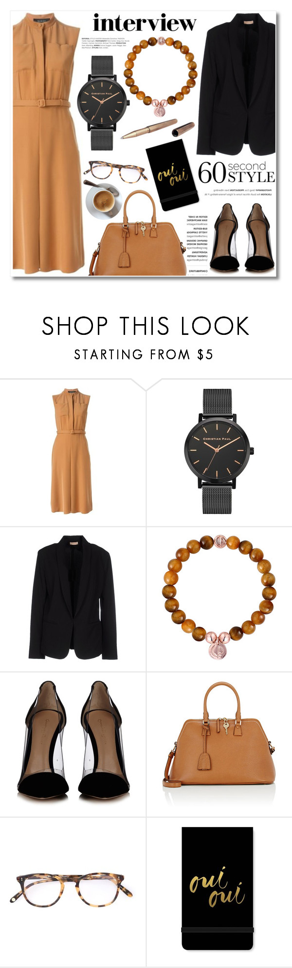 """""""60-Second Style: Job Interview"""" by christianpaul ❤ liked on Polyvore featuring Gucci, Maesta, Gianvito Rossi, Maison Margiela, Garrett Leight, Fringe, ystudio, contestentry, jobinterview and 60secondstyle"""