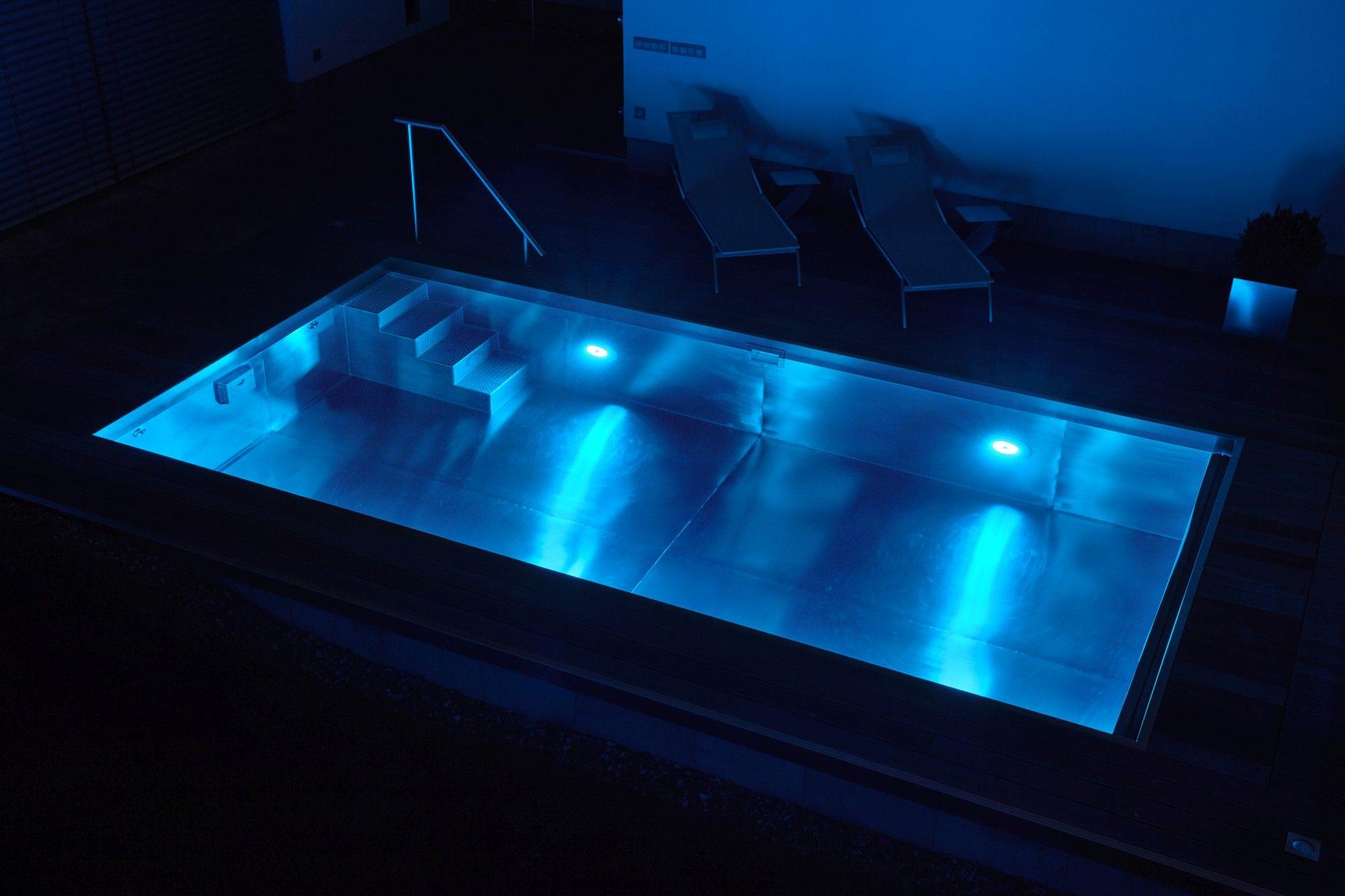 Beispielbeleuchtung: Blau.