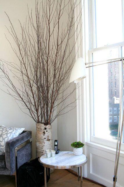 I Love Branches Inside The Home Floor Vase Decor Birch Tree