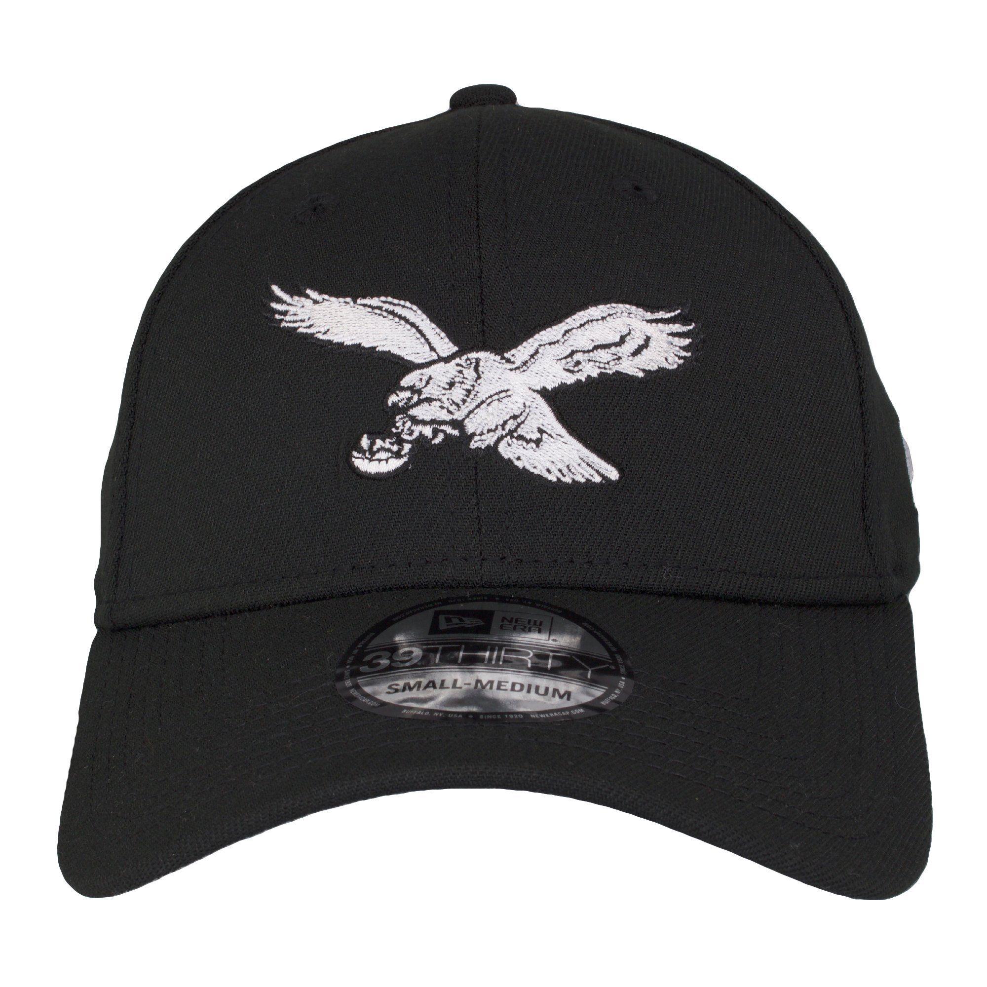 Philadelphia Eagles Retro Logo Black Flexfit Hat