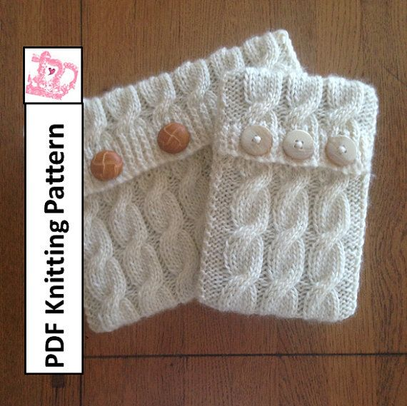 Pdf Knitting Pattern Cable Knit Pattern In Two Sizes Sleeve