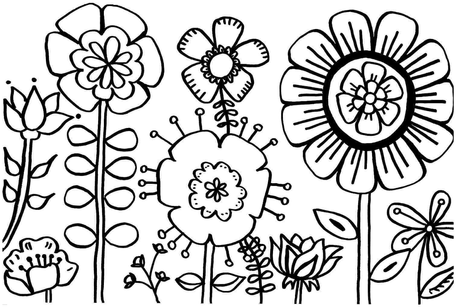 Spring Flower Coloring Pages Bing Images Spring Coloring Pages Printable Flower Coloring Pages Flower Coloring Pages