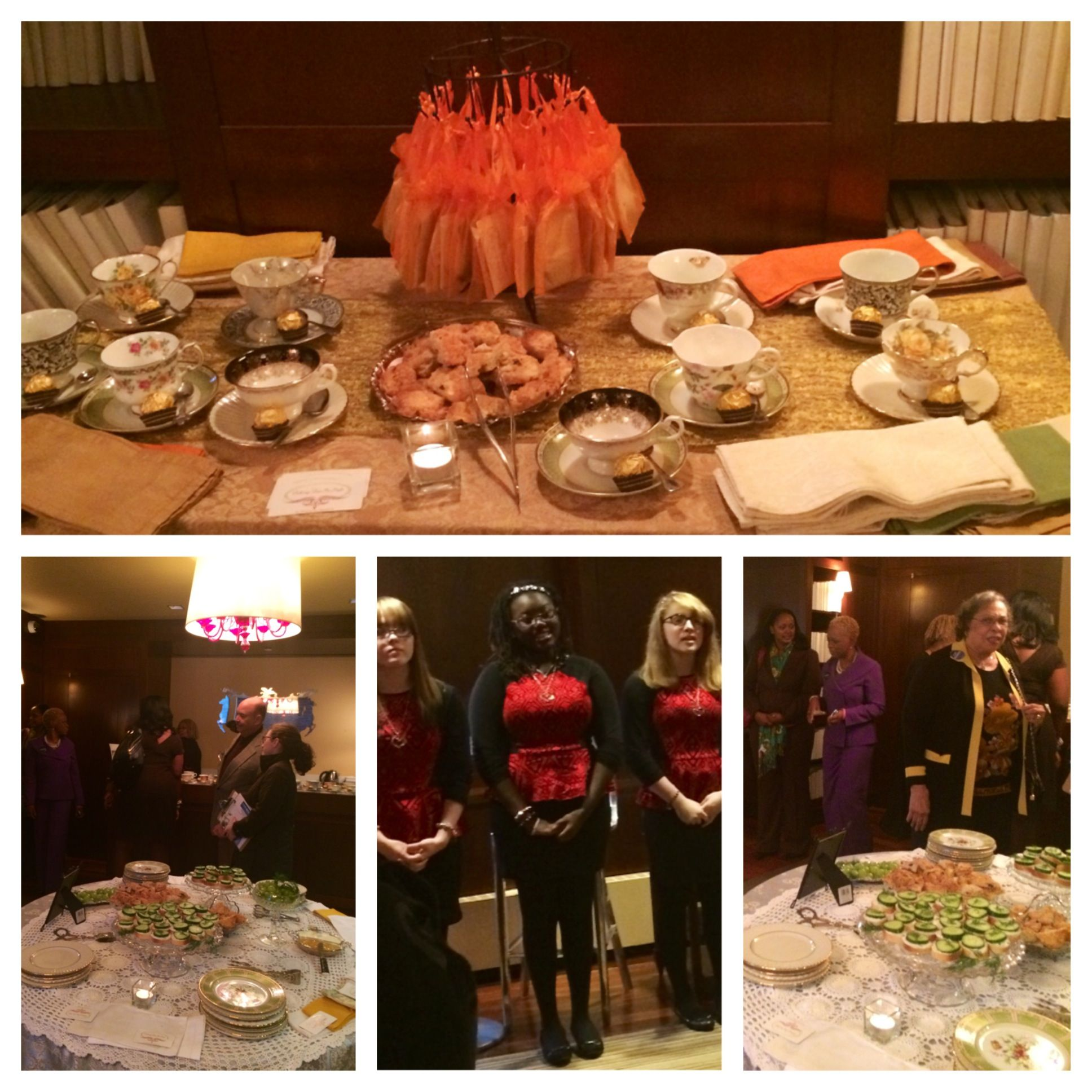 It was great creating a tea party for this fundraiser