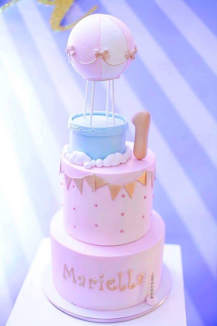 Superb Girly Hot Air Balloon Birthday Party Funny Birthday Cards Online Necthendildamsfinfo