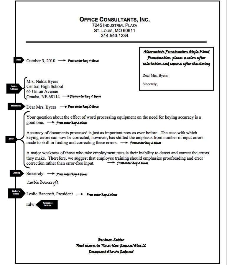 Business Letter Format Examples  HttpResumesdesignCom