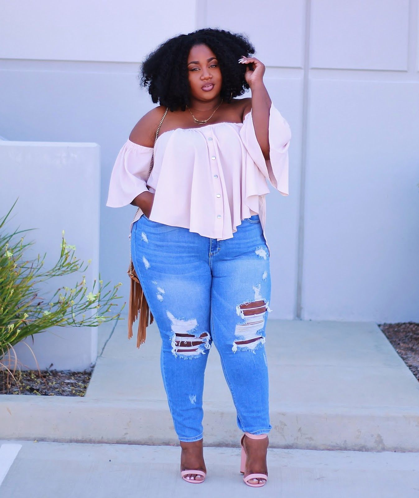 Plus Size Fashion for Women - LACE N LEOPARD: Blushing