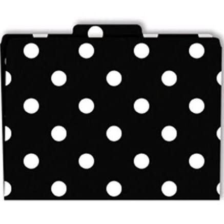 Black White Stripe Polka Dot Office Supplies Folders Google Search