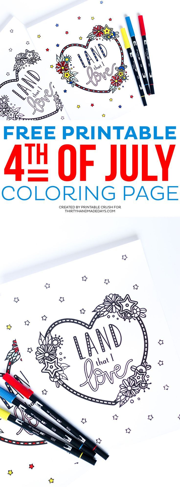 4th of July Coloring Page | Free printable, Free and Holidays