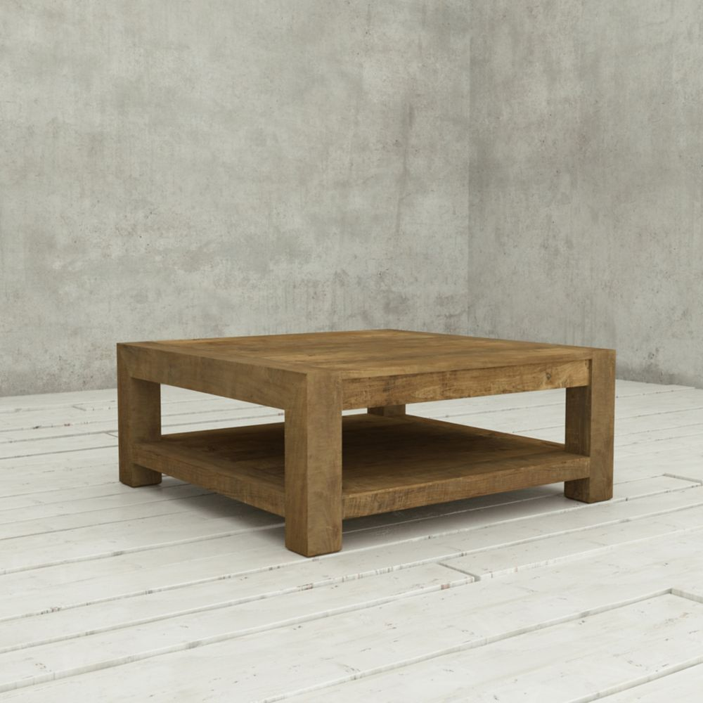 40 Inch Villa Coffee Table Natural Square Wood Coffee Table Reclaimed Wood Coffee Table Coffee Table Wood [ 1000 x 1000 Pixel ]