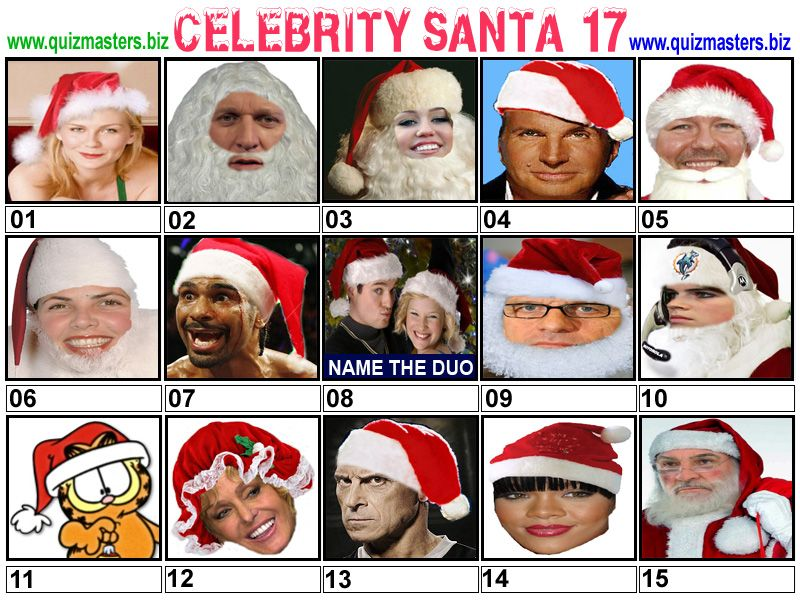Celeb Santa Christmas picture quiz, Jason manford