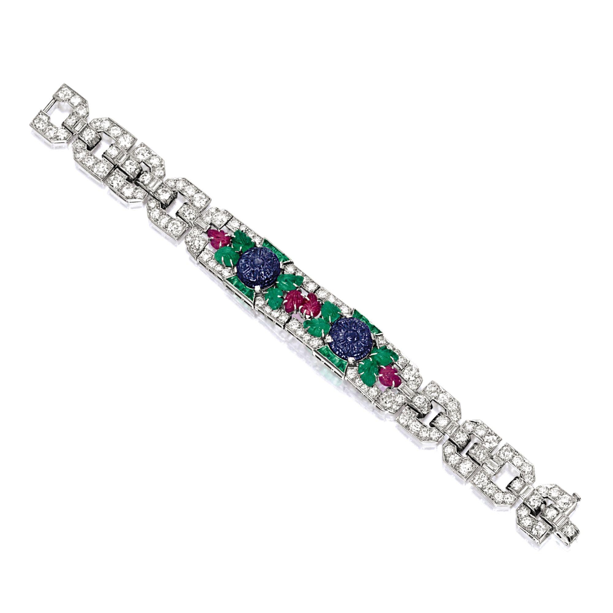 Gemset and diamond bracelet circa of tutti frutti design the