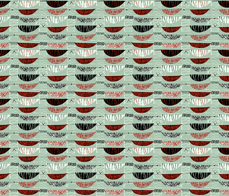 Mod Graphic Red 25 fabric by chicca_besso on Spoonflower - custom fabric