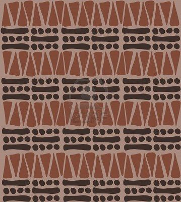 Tribal african pattern doodle - simple background texture Stock Photo