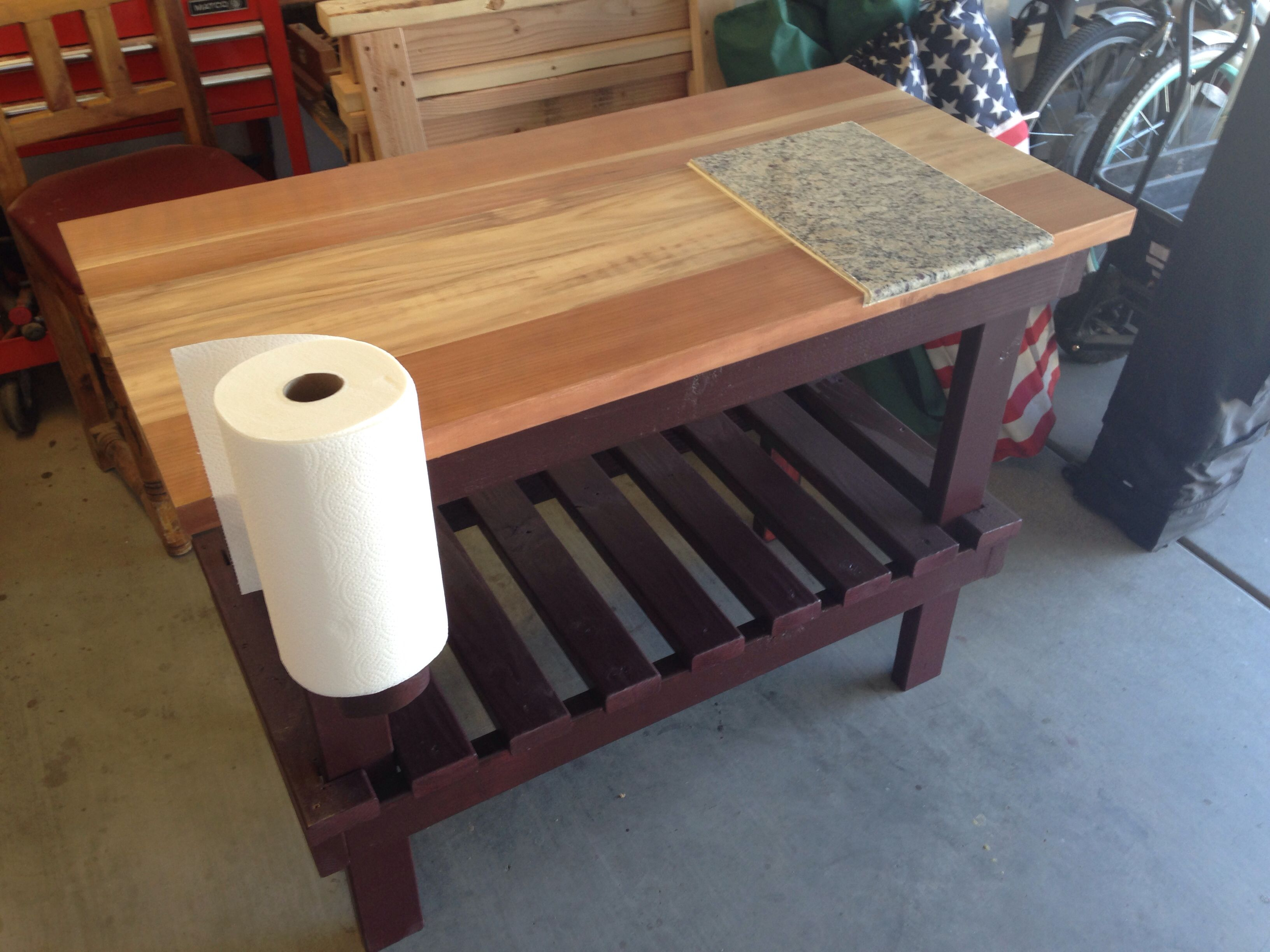Superb Finished BBQ Prep Table 2014