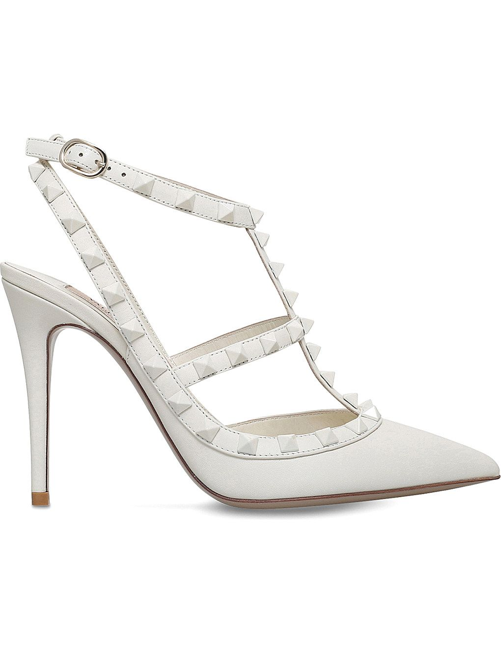 90c9fd06610 VALENTINO Rockstud 100 leather courts