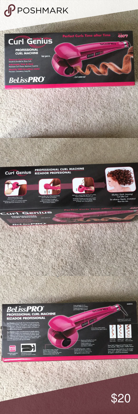 Beliss Pro Hair Curler Works Great And Good Condition There Is One Scuff On The