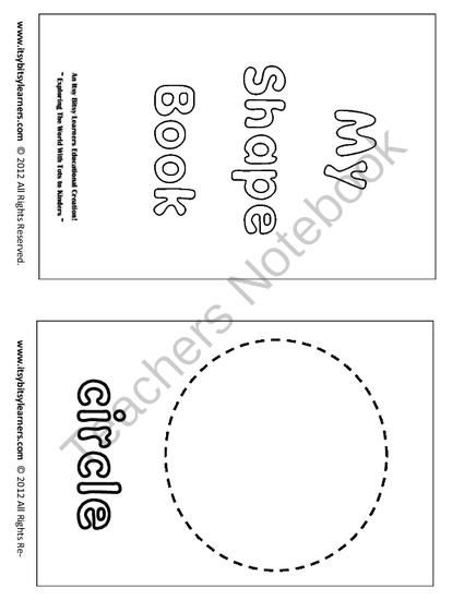 graphic about Shape Books Printable called I recognize my styles -(6 web pages) -A easy hint and coloring
