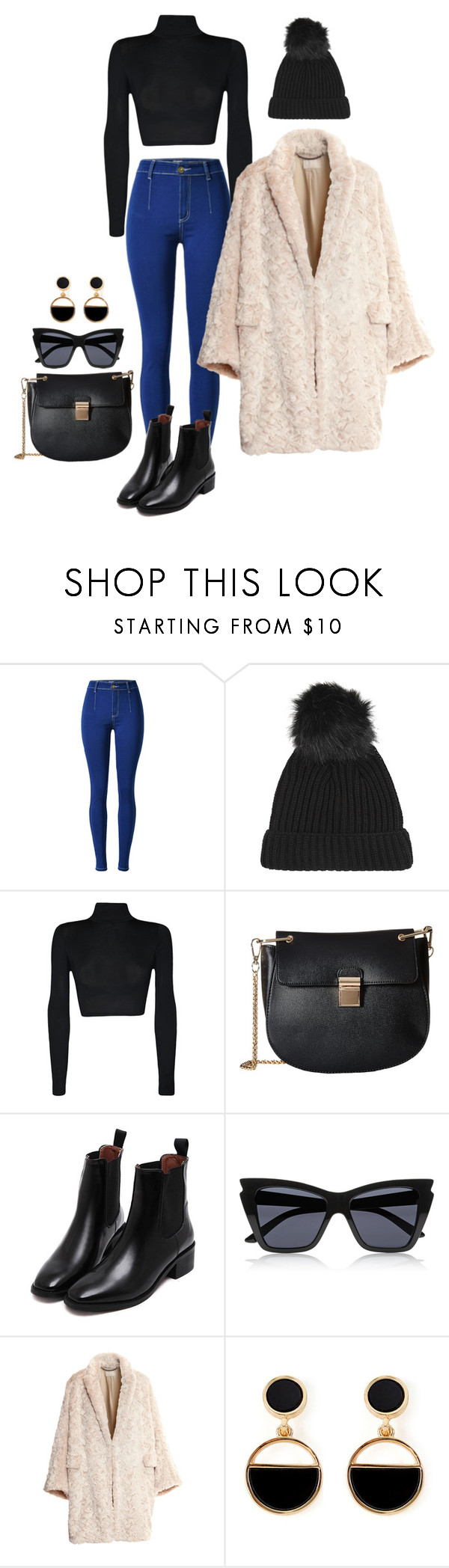 """008"" by shfeisty on Polyvore featuring Topshop, WearAll, Gabriella Rocha, Le Specs, H&M and Warehouse"