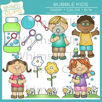 Bubble Kids Clip Art