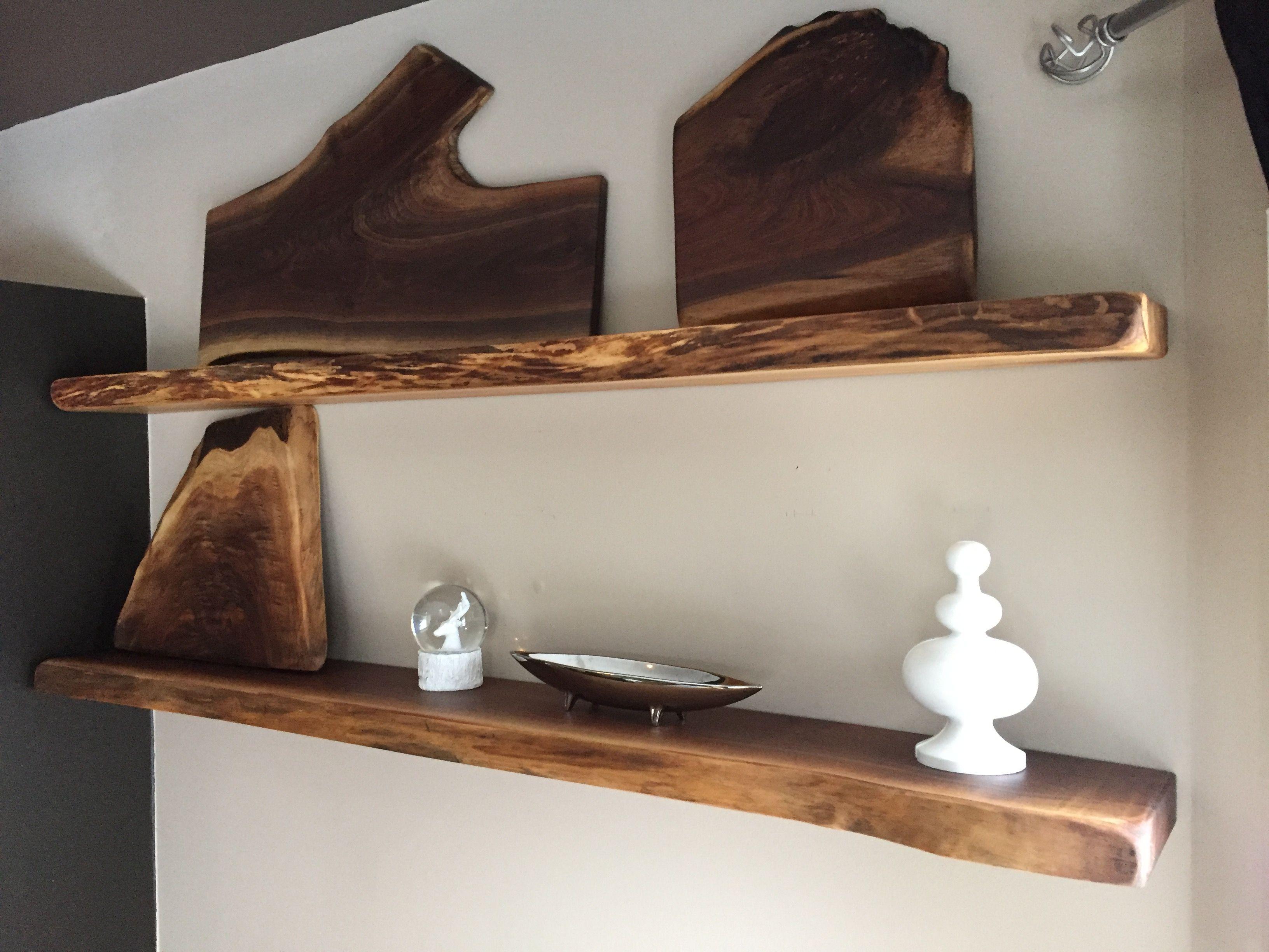 Live Edge Floating Shelf Wood Shelves Natural Open Shelving In