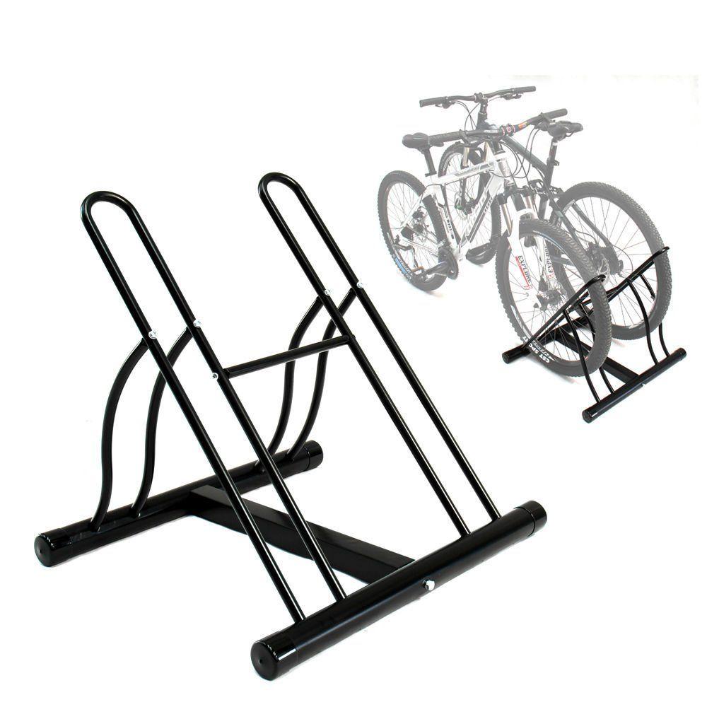 2 Bike Bicycle Floor Parking Rack Storage Stand. Approved