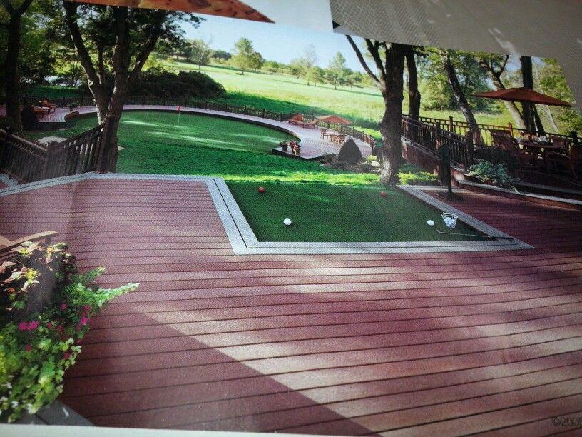 Backyard golfing anyone!!!   Backyard, Dream patio ...