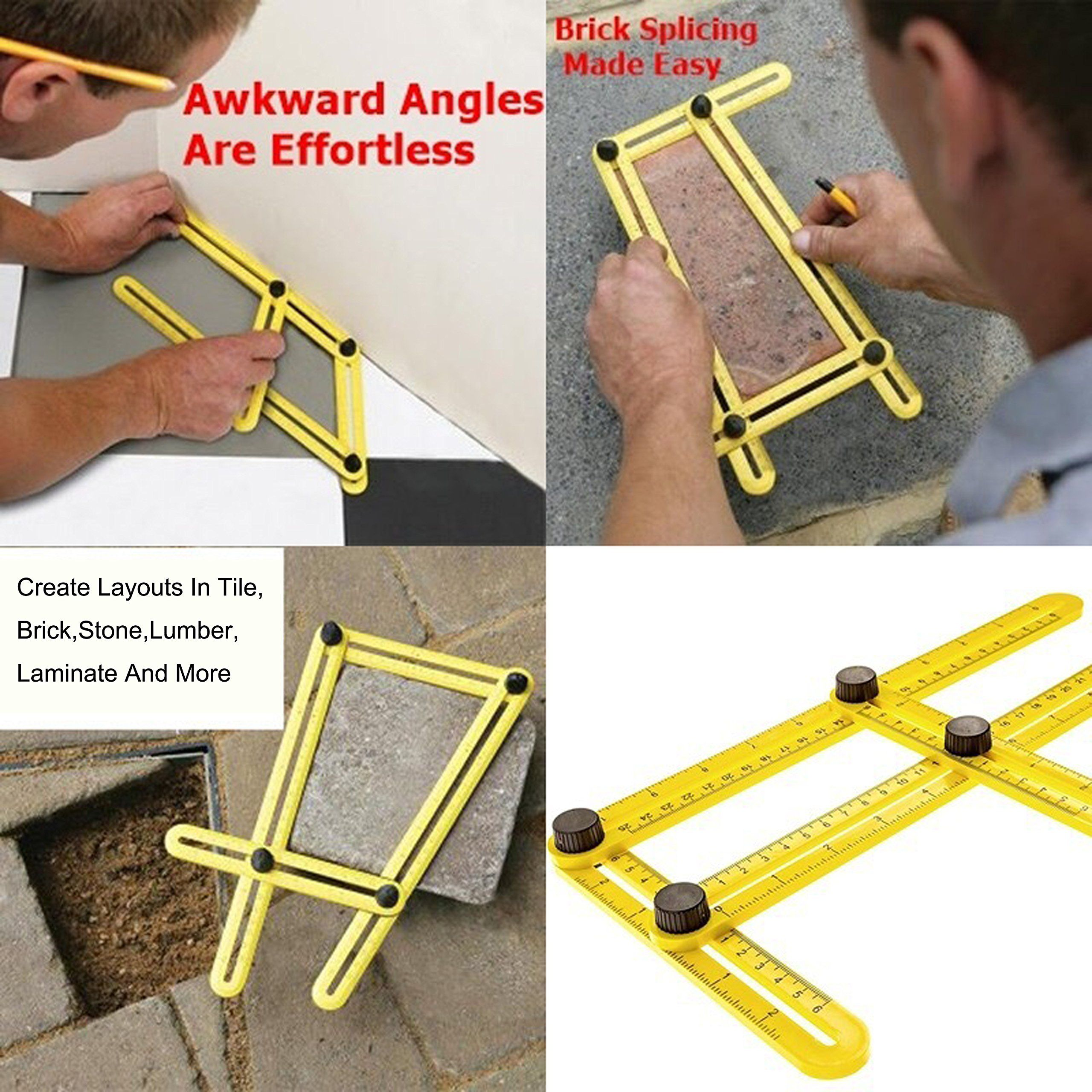 Angleizer Multi-Angle Ruler Template DIY Tool Floor Measuring Instrument