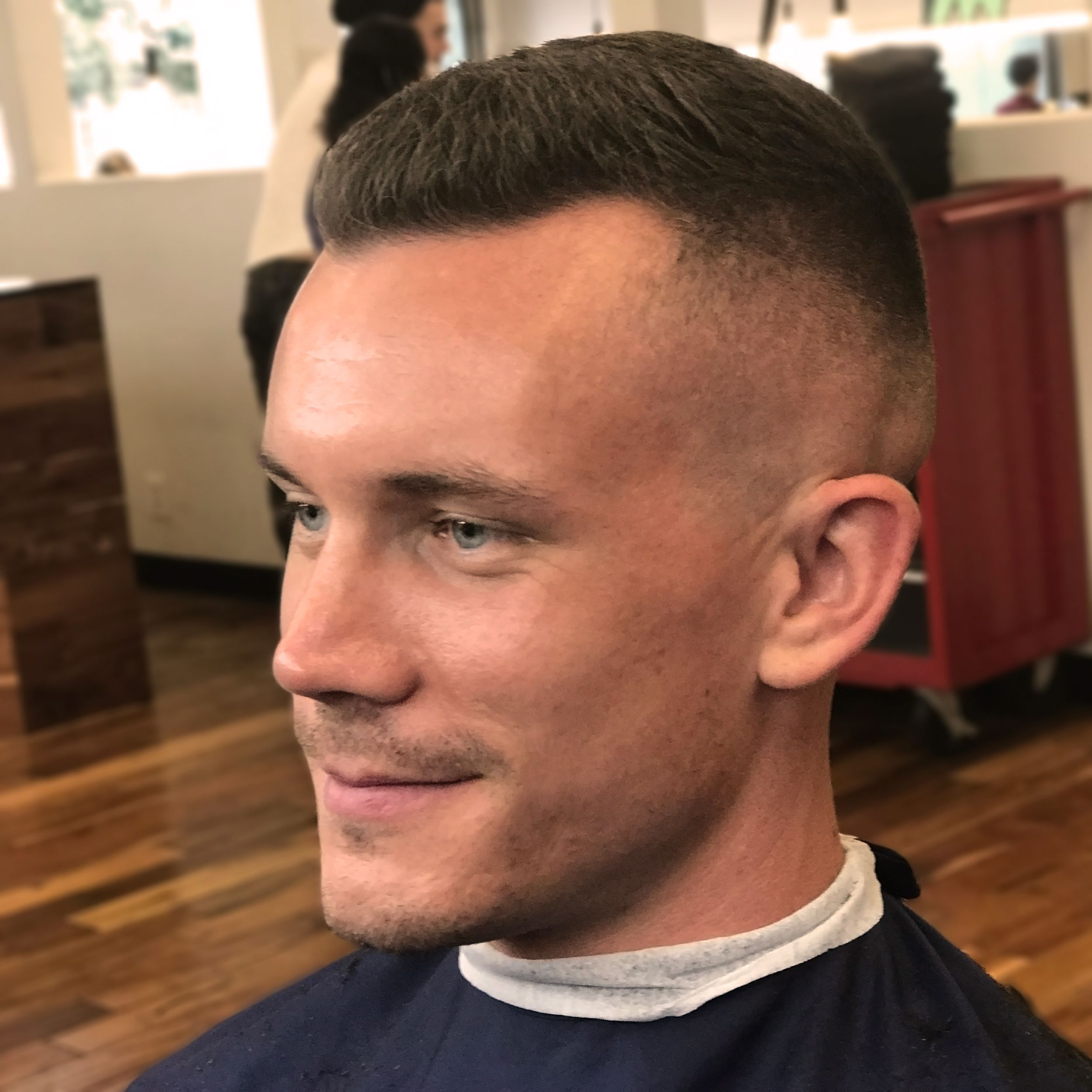 This Medium Skin Fade Was Done With A Razor About 1 3 The Way Up The Head And Fading Into About One Inch Of Length On Top O Medium Skin Fade Fade