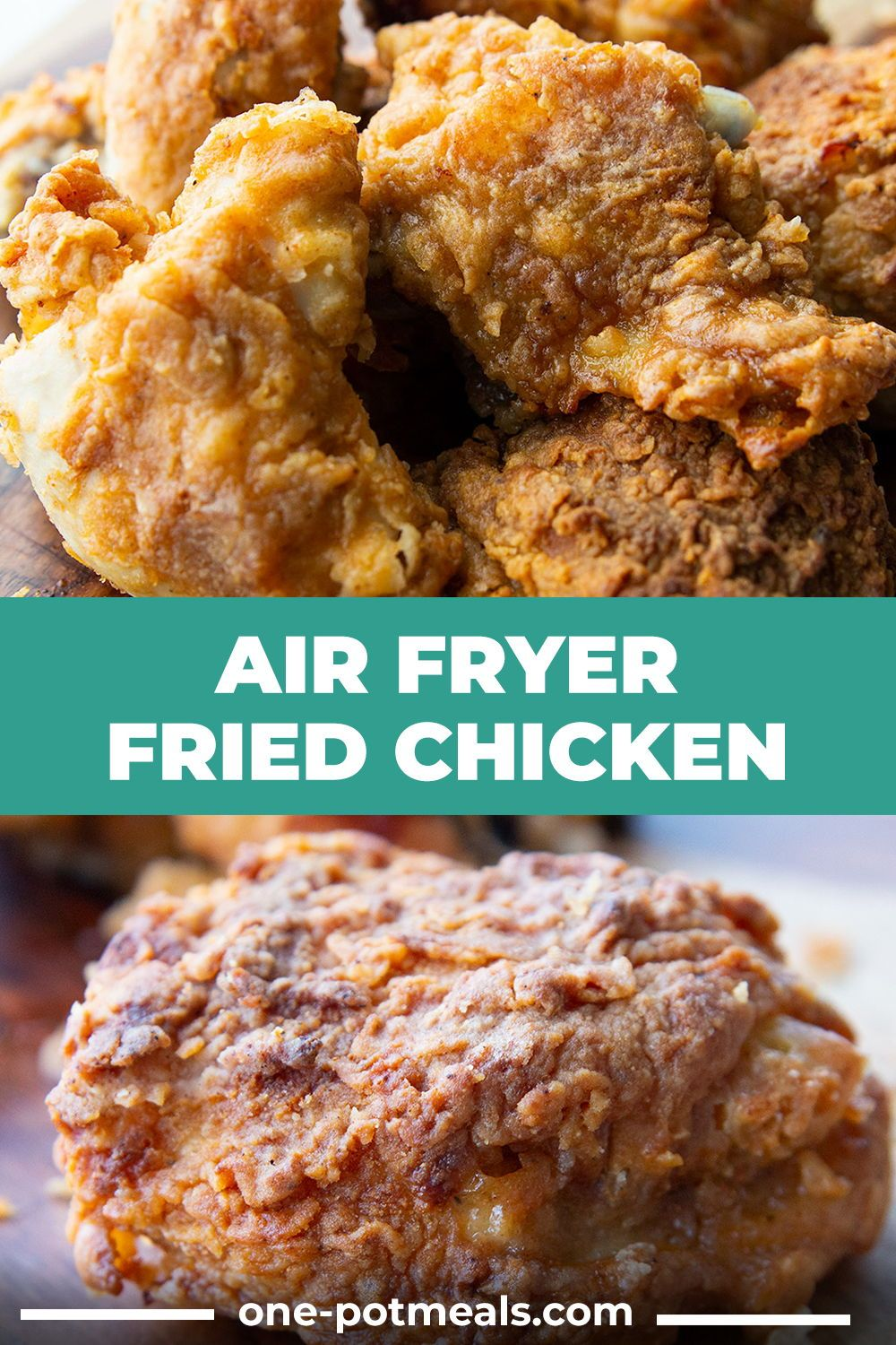 This Air Fryer Fried Chicken Uses Little To No Oil And Has A Crispy Golden Coating Surrounding