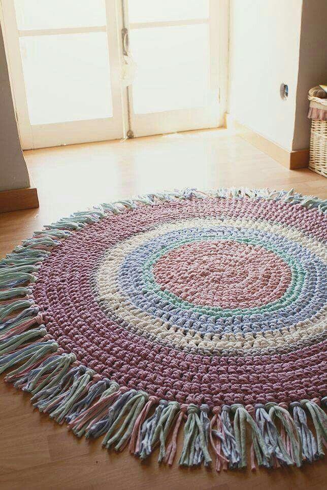 Alfombra en crochet alfombras pinterest trapillo - Alfombras ganchillo trapillo ...