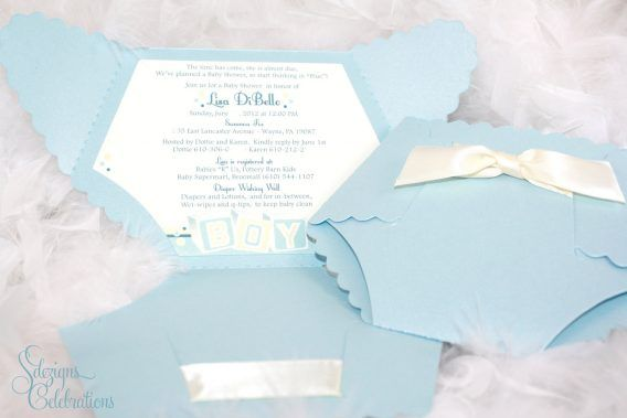 Baby Shower Diaper Invites For Baby Shower To Make Your Enchanting