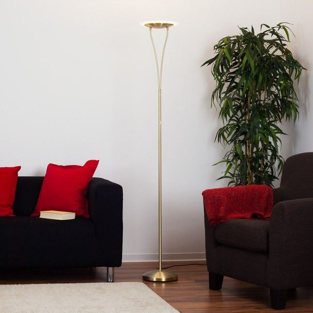Côté salle à manger - Lampadaire Sybille à LED, couleur laiton