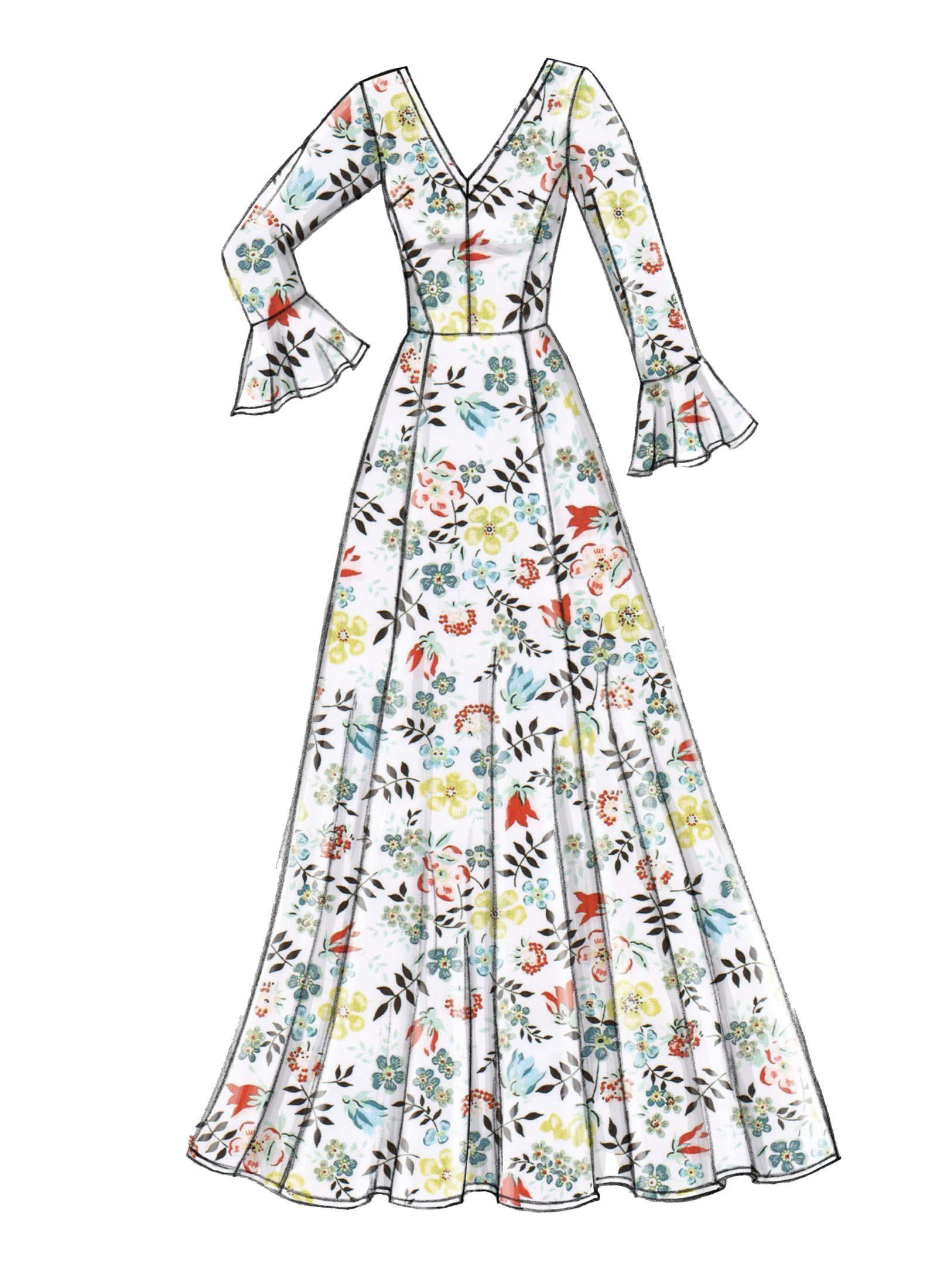 V9328 Misses Dress Sewing Pattern Vogue Patterns Dress Design Sketches Dress Design Drawing Fashion Drawing Dresses