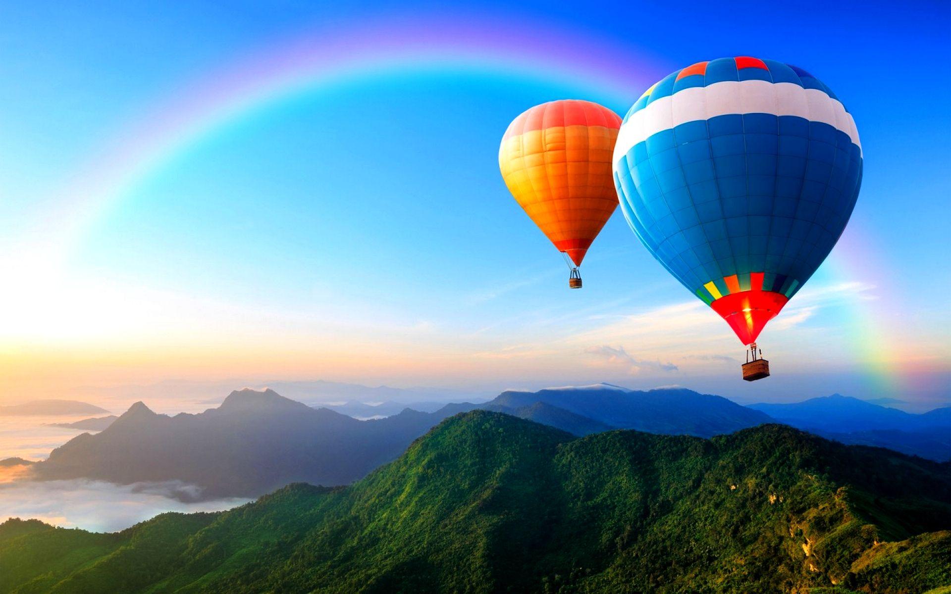 Hot Air Balloon Hd Wallpaper 1920x1200 84357 Air Balloon Hot Air Hot Air Balloon Wallpaper colorful hot air balloon blue