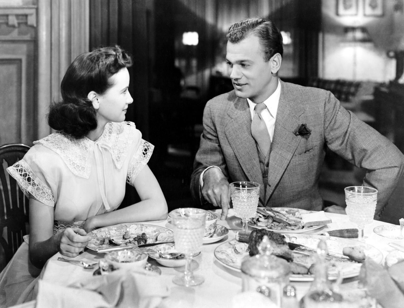 """Alfred Hitchcock's """"Shadow of a Doubt"""" (1943) with Teresa Wright and Joseph Cotten. Brilliantly creepy."""